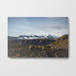 Snowy Tops of Icelandic Mountains. || Wall art for Your Home. || MadaraTravels Metal Print