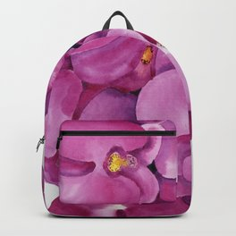 Watercolour Orchid Bloom Backpack