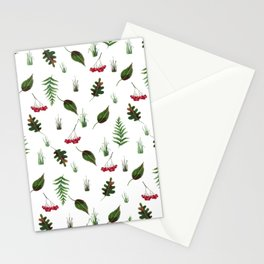 Leaves, grass, mountain ash Stationery Cards
