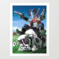 Literal Cowboy Art Print