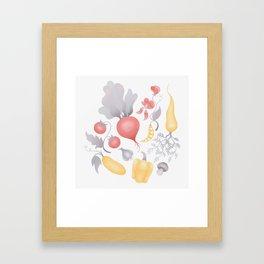 Vegetables (pastel) Framed Art Print
