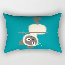 Funny Siamese Kitten upside down Rectangular Pillow
