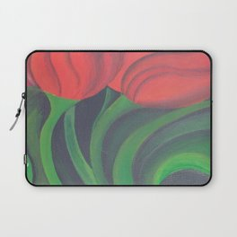 Red Tulip Diptych Laptop Sleeve