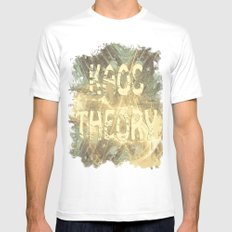 Kaos theory on sandy fractal White Mens Fitted Tee MEDIUM