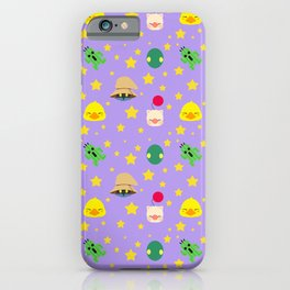final fantasy pattern lilac iPhone Case