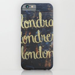 LONDRA/LONDRES iPhone Case