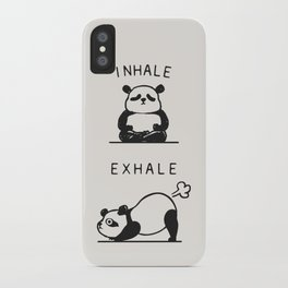 Inhale Exhale Panda iPhone Case