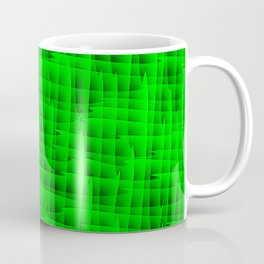 Square intersections green lines on a dark tree. Coffee Mug