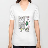 circus V-neck T-shirts featuring Circus by Madmi