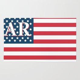 Arkansas American Flag Rug