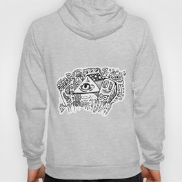 Totem Towers fantasy city doodle Hoody