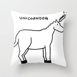 unicorndog Throw Pillow