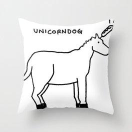 unicorndog Throw Pillow