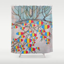 withered tree / potatoes Shower Curtain