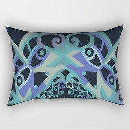 Thanksgiving Arch - Blue Black Rectangular Pillow