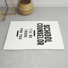 School Counselor Work Job Title Gift Rug