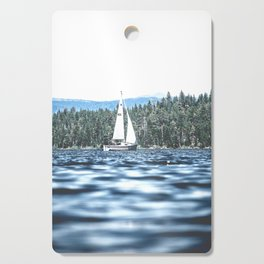 Calm Lake Sailboat Cutting Board