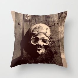 Catacomb Culture - Skull and Paint Throw Pillow
