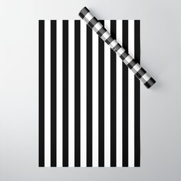 Stripe Black And White Vertical Line Bold Minimalism Stripes Lines Wrapping Paper