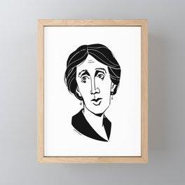 Virginia Woolf Framed Mini Art Print