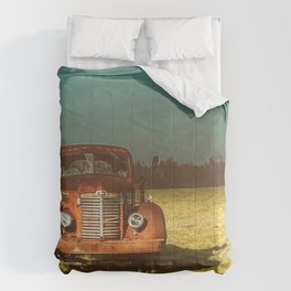 Lost In Time Truck Travel Comforters