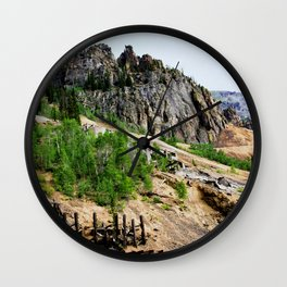 Eureka Mine and Rocky Crags Towering Overhead Wall Clock