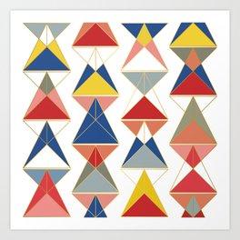 Triangular Affair II Art Print