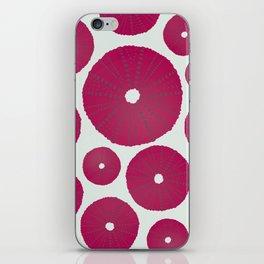 Sea's Design - Urchin Skeleton (Deep Pink) iPhone Skin