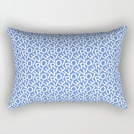 Typography Pattern / Oliver Rectangular Pillow