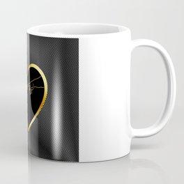 Creation of Adam inside a golden heart and metallic texture Coffee Mug