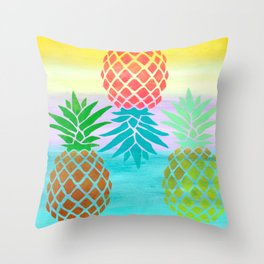 Abacaxi Throw Pillow
