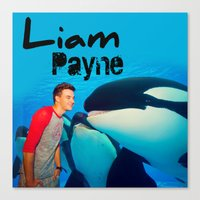 liam payne Canvas Prints featuring Liam Payne by Grunge & Glam