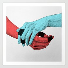 Take my Hand Art Print