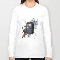tardis Long Sleeve T-shirts featuring tardis by erkamaj