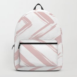 Minimalistic Rose Gold Paint Brush Triangle Diamond Pattern Backpack