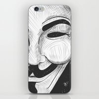 anonymous iPhone & iPod Skins featuring Anonymous by nicole carmagnini