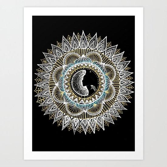 Woman Mandala Art Print