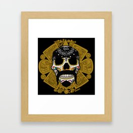 Cholo Sugar Skull Framed Art Print