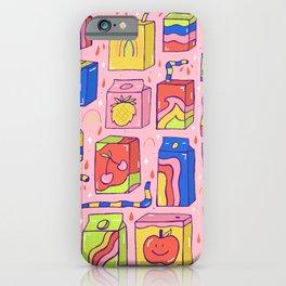 Juice Box Print iPhone Case