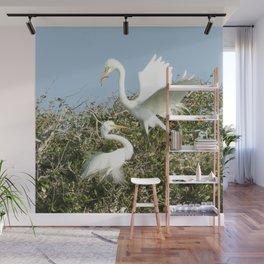 Bird Series: Nesting Great Egrets Wall Mural