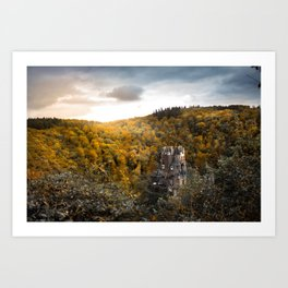 Castle in the Woods 3 Art Print