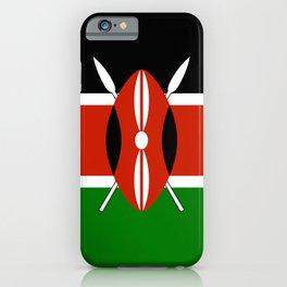 Kenyan flag of Kenya iPhone Case