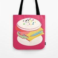 hamburger Tote Bags featuring Hamburger by Haina