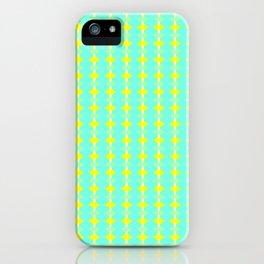 aqua circles iPhone Case