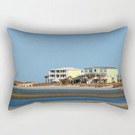 Two Beach Houses Rectangular Pillow