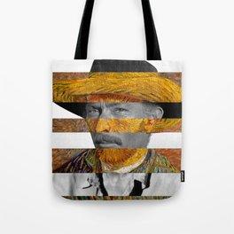 Van Gogh's Self Portrait & Lee Van Cleef Tote Bag