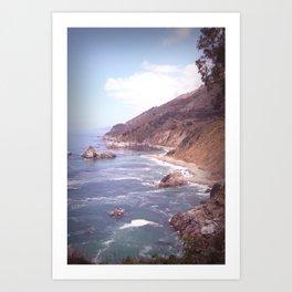 Vintage Big Sur Coast Art Print