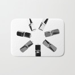 Gives you Wings Black And White Bath Mat