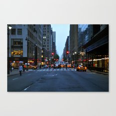 Nightfall in New York Canvas Print