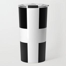 Saint Piran's Flag of Cornwall UK Travel Mug